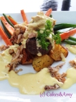 Beef Filet with Crab, Bearnaise and Roasted Potatoes