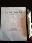 Frog & Puddle - Autumn Menu